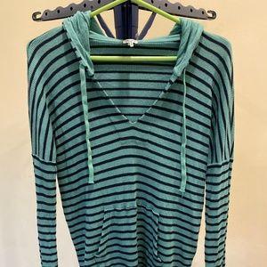 Splendid Striped Hooded Top Size L